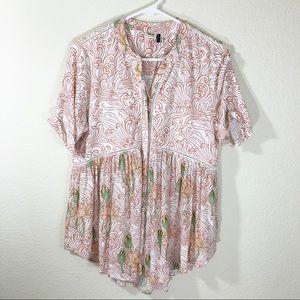 Anthropologie short sleeve blouse